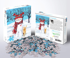 Allport Cat Snowman Puzzle - 1000pc