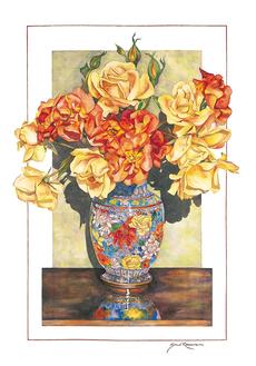 Cloisonne Roses