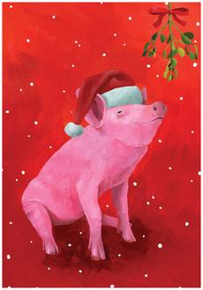 Mistletoe Pig