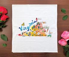 Watercolor USA: Virginia Towel