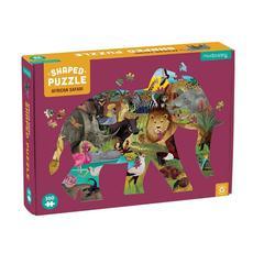 African Safari Elephant Shaped Puzzle