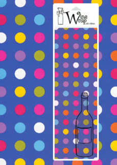 Spots Blue Wine Wrap