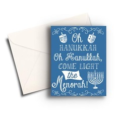 Light The Menorah Hannukah Card
