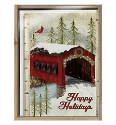 Snowy Covered Bridge Holiday Boxed Notes