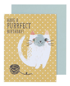 Meow Meow Birthday Card