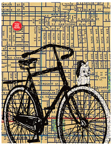 Bicycle and Mascot