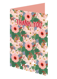 Thank You Flowers Laser Cut Card