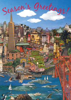 San Francisco Holiday Cityscape