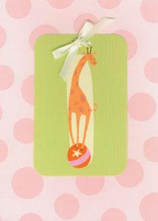 Giraffe Pink Dots