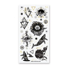 Mystical Magic Whale Stickers