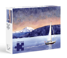 Allport Sailboat and Mountain Puzzle - 1000pc
