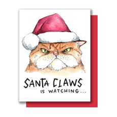 Santa Claws Holiday Card