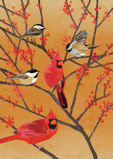 Chickadees and Cardinals
