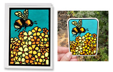 Bumblebee Card and Vinyl Sticker
