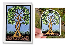 Tree of Life, Together Forever Card and Vinyl Sticker Set