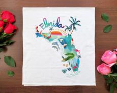 Watercolor USA: Florida Towel