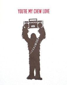 Chew Love Letterpress Card