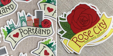Portland Roses Stickers