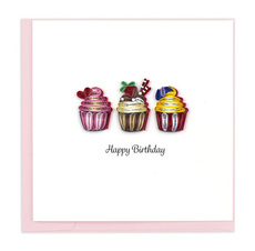Cupcake Birthday Quilling Card