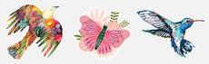 Birds & Butterflies Jumbo Decals