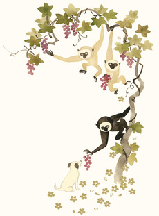 Monkeys and Puppy