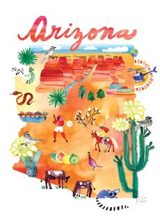 Watercolor USA: Arizona