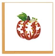 Pumpkin Quilled Paper Card