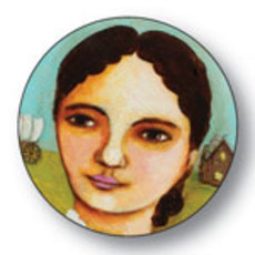 Laura Ingalls Wilder Button