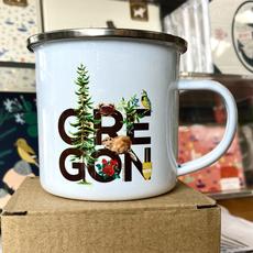 Oregon Enamel Camp Travel Mug