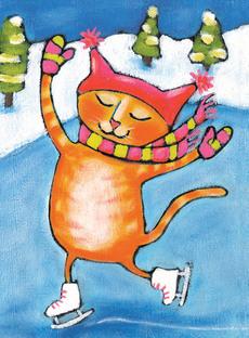 Skating Cat Mini