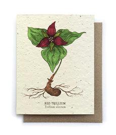 Trillium Plantable Seed Card
