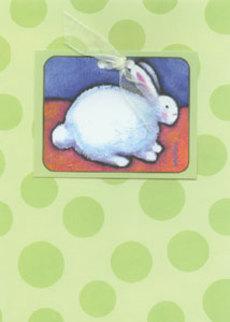 Bunny Green Dots