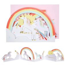 Unicorn Concertina Card