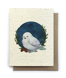 Snowy Owl Plantable Seed Card