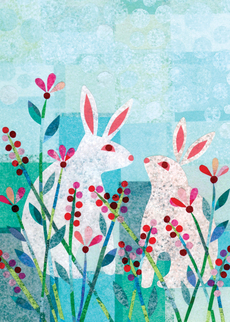 Bunnies in Field (Easter)
