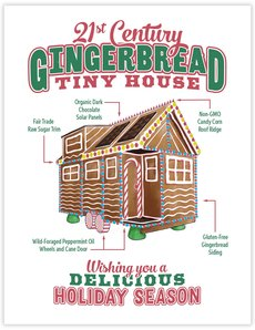 Gingerbread Tiny House Card