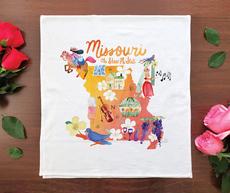 Watercolor USA: Missouri Towel