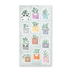 Animal Planters Stickers