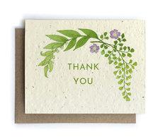 Botanical Thank You Plantable Seed Card