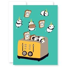 Panda Toaster Card