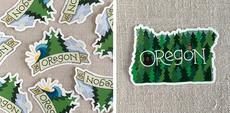 Oregon Trees Sticker Set