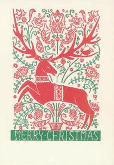 Folk Deer Christmas Box