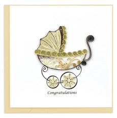 Baby Carriage Quilling Cards