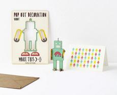 Robot Pop Out Card