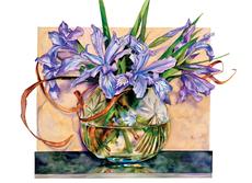 Wild Iris in Bowl