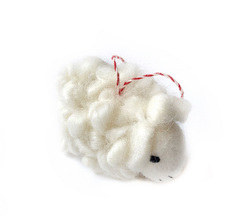 Sheep Felted Ornament