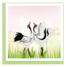 Two Cranes Quilling Card