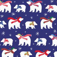 Blue Polar Bear Wrap