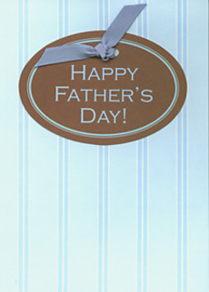 Oval Father's Day Blue Stripes