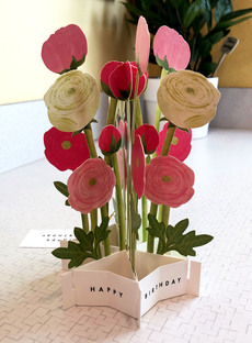 Blooming Flower Popup Card